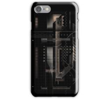 Composition of golden abstract geometry #4 iPhone Case/Skin