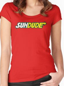 Suh Dude - Subway Logo Women's Fitted Scoop T-Shirt