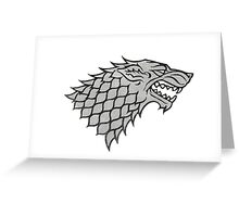 Stark house game of thrones Greeting Card