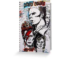 David Bowie Graphic Tribute 1947-2016 Aladdin Sane  Greeting Card