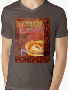Cappuccino Mens V-Neck T-Shirt