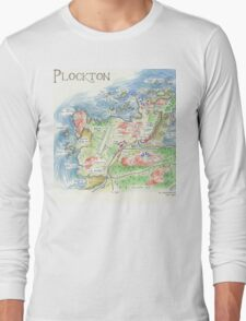 Map of Plockton, Scotland Long Sleeve T-Shirt