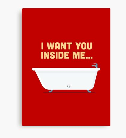 Character Building - Bath tub Canvas Print