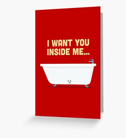 Character Building - Bath tub Greeting Card