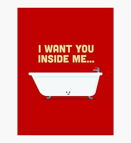 Character Building - Bath tub Photographic Print