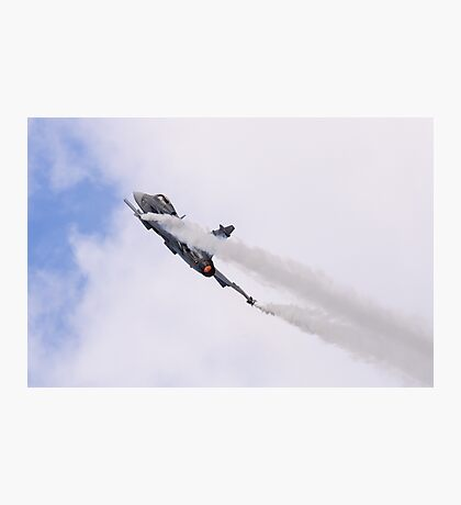 Smoking Gripen Photographic Print