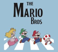 Super Mario Abbey Road by Vintagetees