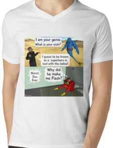 Be a super hero with the ladies Mens V-Neck T-Shirt