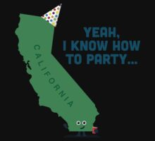 Character Building -  California, knows how to party… Kids Tee
