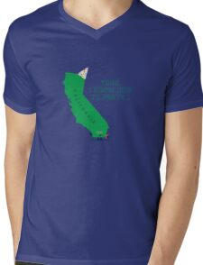 Character Building -  California, knows how to party… Mens V-Neck T-Shirt