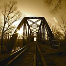 Railroad Bridge in Shelbyville, Indiana by Kent Nickell