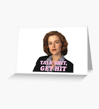 Dana Scully Sticker Greeting Card