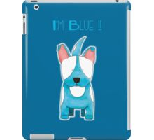 I'm Blue !! - Bull Terrier Dog iPad Case/Skin