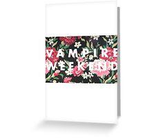 Vampire Weekend Logo on Floral  Greeting Card