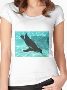Diving Penguin Women's Fitted Scoop T-Shirt