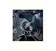 Nighttime Passing of Kindred Spirits Art Print