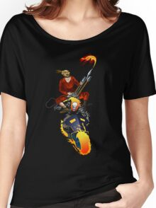 Doof Warrior and The Ghost Rider  Women's Relaxed Fit T-Shirt