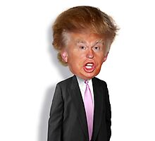 Hilarious Donald Trump! Photographic Print