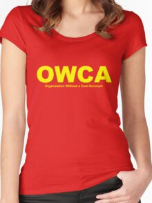OWCA Organization Without A Cool Acronym - Phineas and Ferb Women's Fitted Scoop T-Shirt