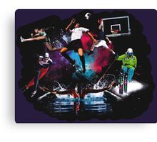 Every sport in a cloud Canvas Print