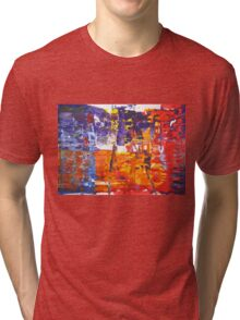 Revenge is a dish best served cold - Original Wall Modern Abstract Art Painting Tri-blend T-Shirt