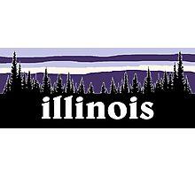 Purple Illinois Photographic Print