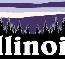 Purple Illinois Sticker