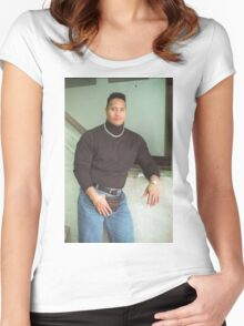 90's Dwayne Johnson Women's Fitted Scoop T-Shirt
