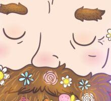 Flower beard Sticker