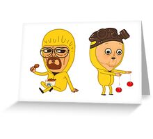 Breaking bad cartoon Greeting Card