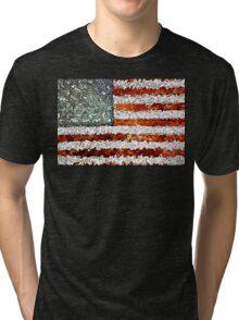 American Flag Abstract Tri-blend T-Shirt