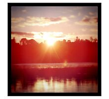 Beautiful Sunset in Canada Photographic Print