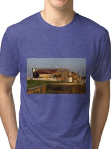 Old Factory Building Tri-blend T-Shirt
