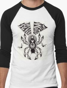 Black Spider Men's Baseball ¾ T-Shirt