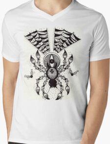 Black Spider Mens V-Neck T-Shirt