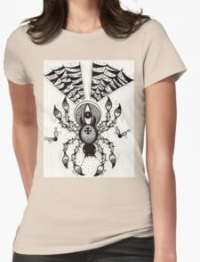 Black Spider Womens Fitted T-Shirt