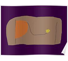 Bread Dark Purple Poster