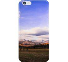 cloudy sky on italian mountains iPhone Case/Skin