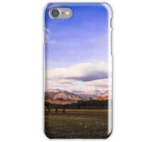 cloudy sky on italian mountains iPhone Case/Skin