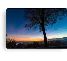 Sunset on Tagliamento river Canvas Print