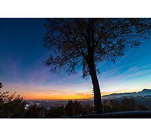 Sunset on Tagliamento river Photographic Print