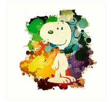 Snoopy Painting Art Print