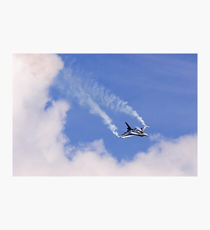 F-16 and Clouds Photographic Print