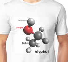 Alcohol Molecule - Drink up! Unisex T-Shirt