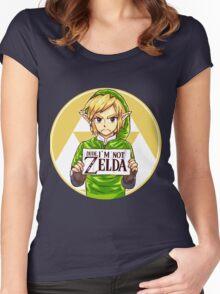 Dude, I'm Not ZELDA! Women's Fitted Scoop T-Shirt