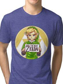 Dude, I'm Not ZELDA! Tri-blend T-Shirt