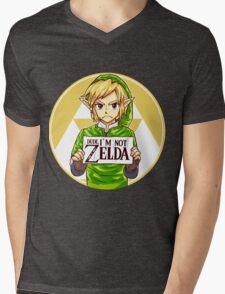 Dude, I'm Not ZELDA! Mens V-Neck T-Shirt