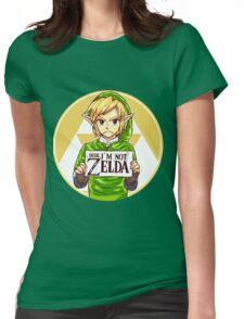Dude, I'm Not ZELDA! Womens Fitted T-Shirt