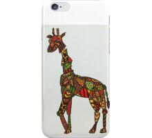 Abstract Giraffe iPhone Case/Skin