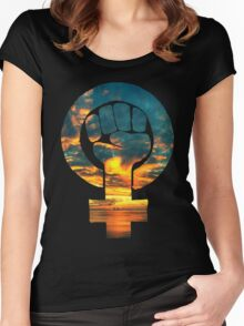 Dawn - Tee Print Women's Fitted Scoop T-Shirt